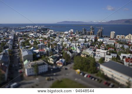 Aerial View Of Reykjavik, Construction Of Tall Buildings In June 2015