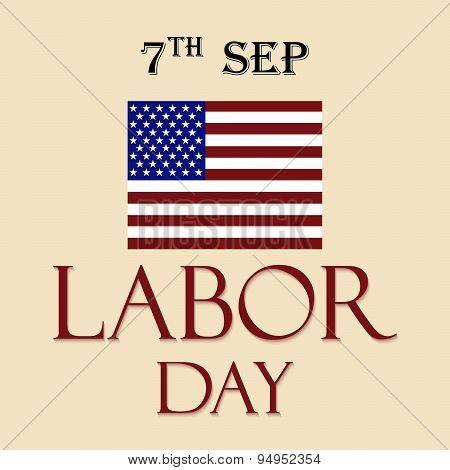 illustration of a background for Labor Day poster