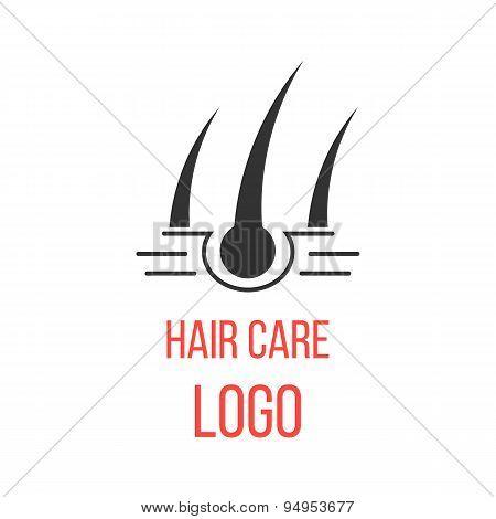 hair care logo isolated on white background