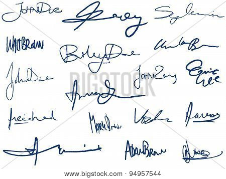 Handwritten Signatures