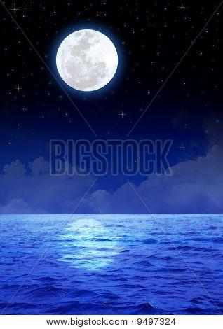 Lua & oceano