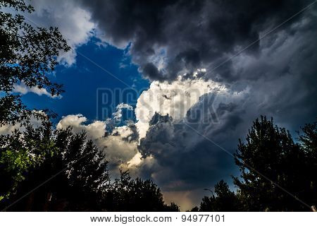 Large Puffy Storm Cloud.  Storm cloud background.