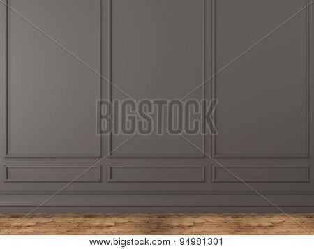 Background Of A Classic Gray Wall