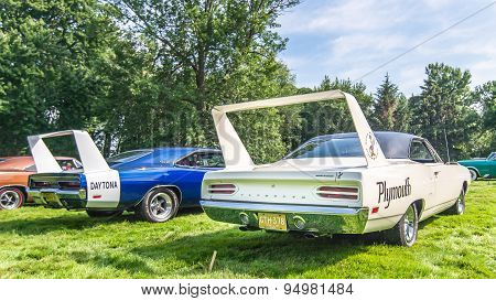 1969 Dodge Daytona and 1970 Plymouth Superbird