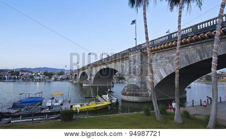 A London Bridge At Twilight, Lake Havasu City