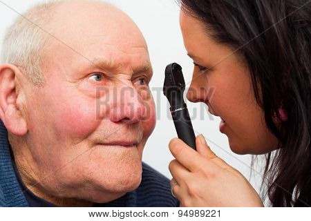 Elderly Man With Vision Problems