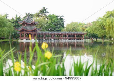 public garden in China
