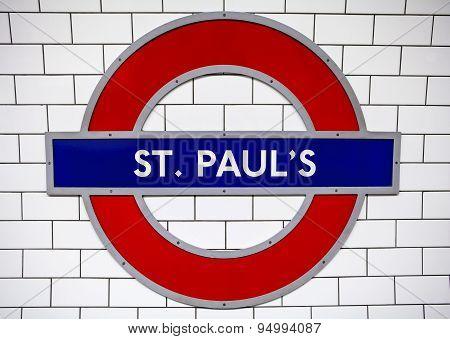 St. Pauls Underground Station In London