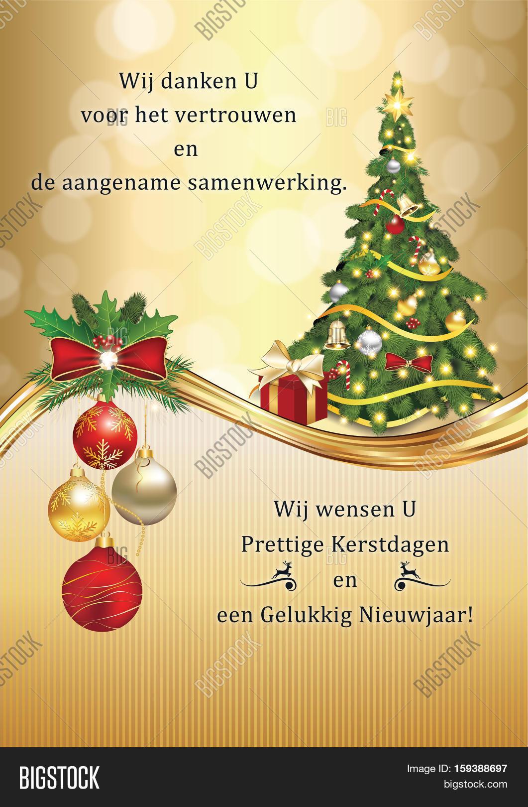 Merry Christmas In Dutch.Business Dutch Image Photo Free Trial Bigstock