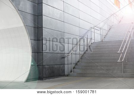 in an new building is located this beautiful staircase