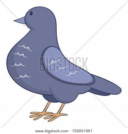 Dove icon. Cartoon illustration of dove vector icon for web