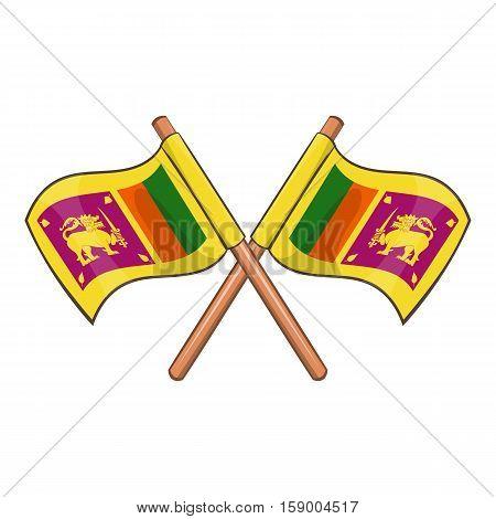 Sri lanka flag icon. Cartoon illustration of sri lanka flag vector icon for web