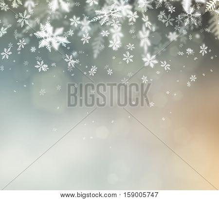 Beautiful abstract snowflake Christmas background for christmas