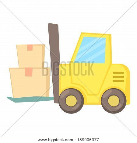 Forklift icon. Cartoon illustration of forklift vector icon for web
