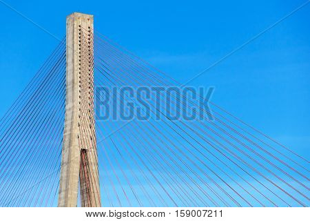 Skarnsund Bridge modern automotive cable-stayed bridge in Norway poster