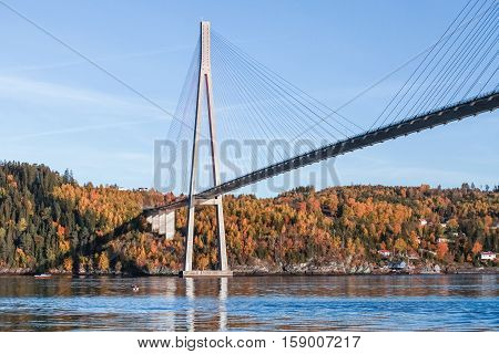 Skarnsund Bridge, Concrete Cable-stayed Bridge
