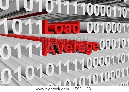 Load Average in the form of binary code, 3D illustration
