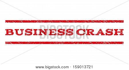 Business Crash watermark stamp. Text tag between horizontal parallel lines with grunge design style. Rubber seal stamp with dirty texture. Vector red color ink imprint on a white background.
