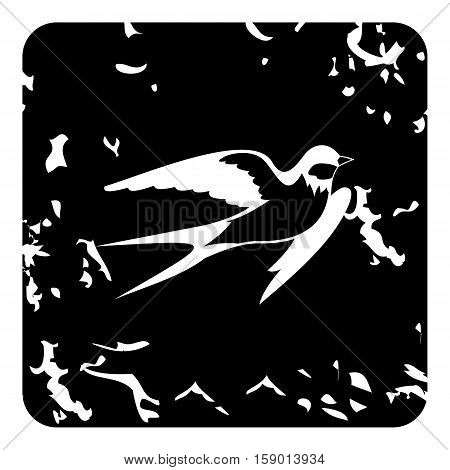 Swallow icon. Grunge illustration of swallow vector icon for web