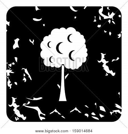 Tree icon. Grunge illustration of tree vector icon for web