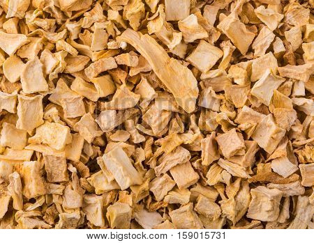 texture of dried yellow spice mixture roots