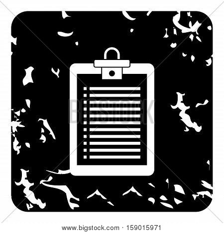 Plane tablet icon. Grunge illustration of plane tablet vector icon for web
