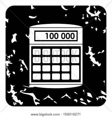 Calculator icon. Grunge illustration of calculator vector icon for web