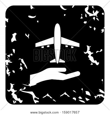 Insurance flights concept icon. Grunge illustration of insurance flights concept vector icon for web