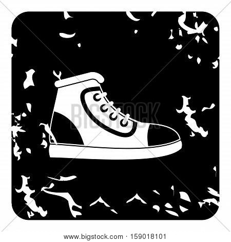Athletic shoe icon. Grunge illustration of athletic shoe vector icon for web