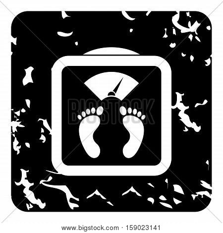 Floor scales icon. Grunge illustration of floor scales vector icon for web