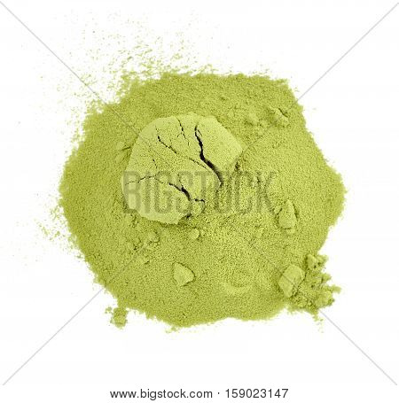 Tea Powder Isolated On The White Background