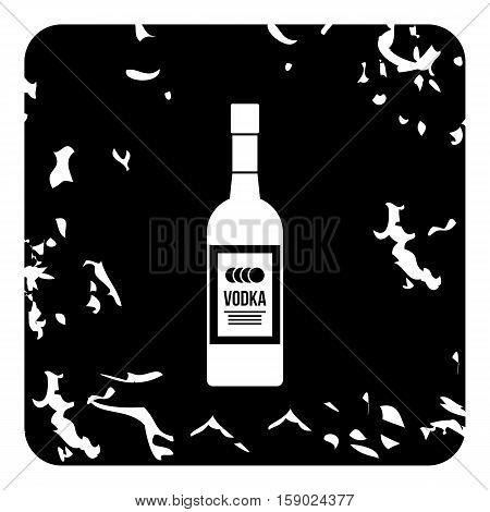 Bottle of vodka icon. Grunge illustration of bottle of vodka vector icon for web