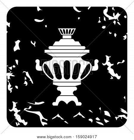 Russian tea samovar icon. Grunge illustration of russian tea samovar vector icon for web