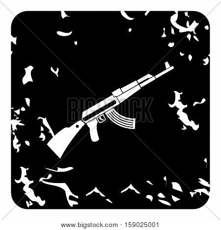 Kalashnikov machine icon. Grunge illustration of Kalashnikov machine vector icon for web
