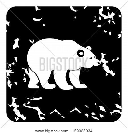 Bear icon. Grunge illustration of bear vector icon for web