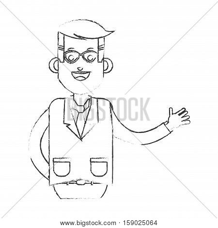 Businessman icon. Business businesspeople and businessperson theme. Isolated design. Vector illustration