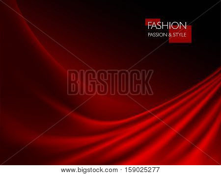 vector illustration of smooth elegant luxury red silk or satin texture. Can be used as background.