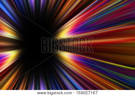 Colourful starburst explosion border with a black copy space centre