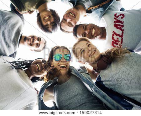 People Friendship Togetherness Huddle Team Unity Concept