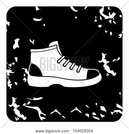 Hiking boot icon. Grunge illustration of hiking boot vector icon for web