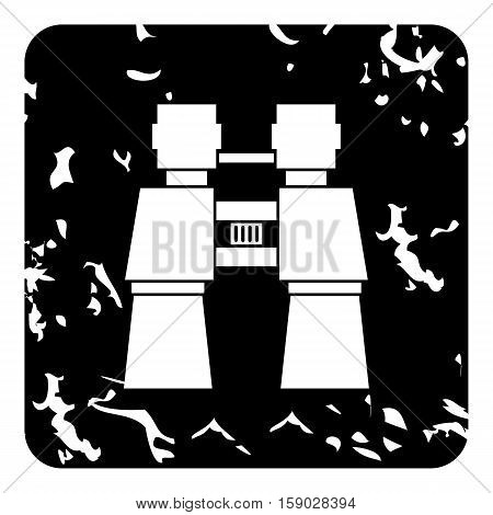 Binoculars icon. Grunge illustration of binoculars vector icon for web