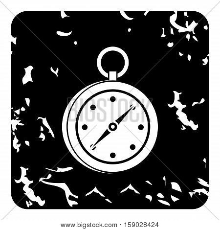 Compass icon. Grunge illustration of compass vector icon for web