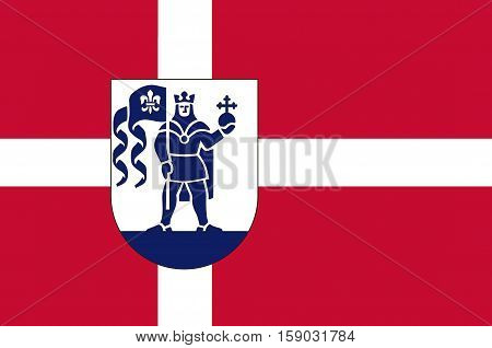 Flag of Odense is a municipality in Region Hovedstaden of Denmark