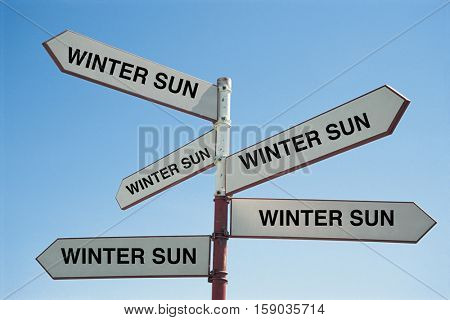 Sign Post saying the Winter Sun