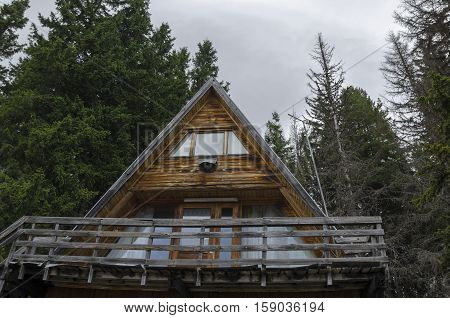 Rest-house or hut in the mountain Vitosha, Bulgaria