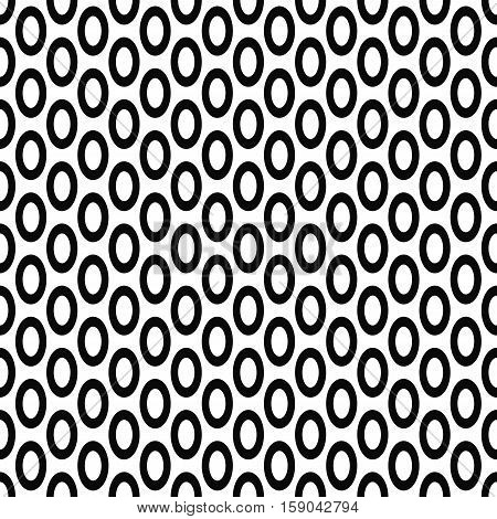 Seamless monochrome geometric ellipse pattern background design