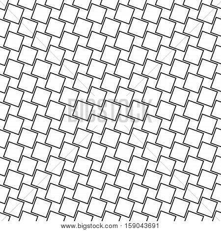 Seamless monochrome angular square pattern design background