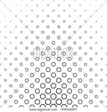 Black and white abstract curved octagon pattern background