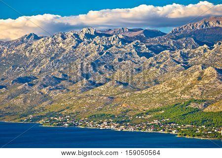 Starigrad Paklenica And Velebit Mountain View