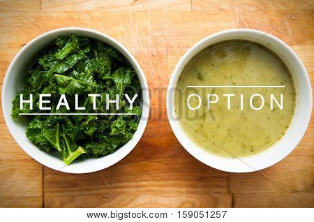 Healthy organic food with natural ingredients for soup